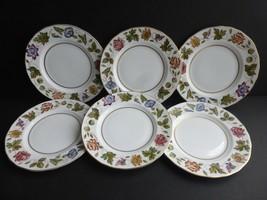 Royal Worcester Virginia Salad Plates, set of 6, Wild Flowers - $34.64