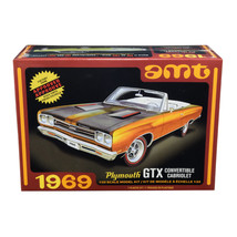 Skill 2 Model Kit 1969 Plymouth GTX Convertible 1/25 Scale Model by AMT ... - $46.61