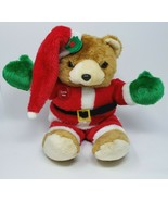 "18"" VINTAGE CHRISTMAS MUSICAL LIGHT UP TEDDY BEAR STUFFED ANIMAL PLUSH T... - $92.57"