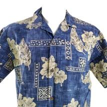 Royal Creations Hibiscus Floral Cross Hatch Large Hawaiian Aloha Shirt - $29.69