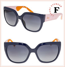 CHRISTIAN DIOR MyDior 3R Square Blue Pink Orange Rubber Cannage Print Su... - $267.30