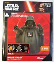Pumpkin Decorating Darth Vader Star Wars Kit Disney Push Ins Halloween New - $14.84