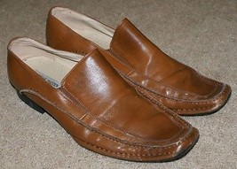 Steve Madden Slip On Loafers Shoes Brown Leather Career Casual Mens Size... - $19.99