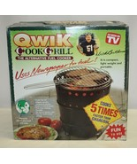 Qwik Cook Alternative Fuel Cooker Grill Eco Friendly Use Newspapers BBQ ... - $54.44