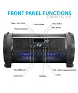 Street Blaster Bluetooth Boom Box Speaker System Wireless & Portable Ste... - $167.30