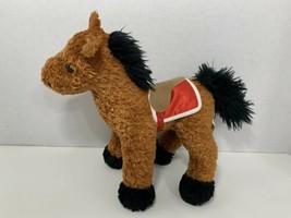Breyer plush Seabiscuit brown racing horse stuffed animal toy 2003 red blanket  - $5.93