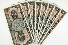 Lote de 8 1954 México 1 Peso Notas (Sequentially Numerada) UNC Estado P#... - $34.68