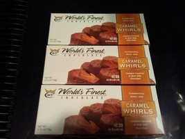 WORLD'S FINEST CHOCOLATE Caramel Whirls 12 Boxs Caramel Covered in Milk ... - $23.99