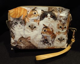 Clutch Bag/Wristlet/Makeup Bag - Cats