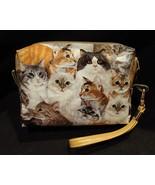 Clutch Bag/Wristlet/Makeup Bag - Cats - $29.95