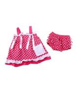 3-24M Baby Girl Pink & White Polka Dot Ruffled Tunic Dress and Bloomers ... - $9.99