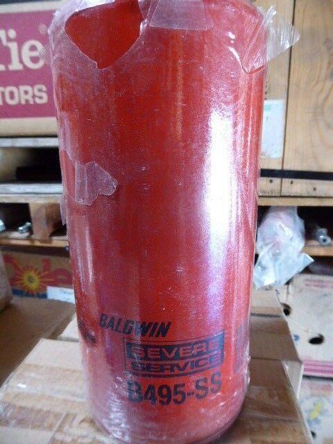 6 Baldwin B495-SS Heavy Duty Oil Filter Spin-On New