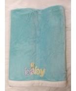 Baby Starters Blanket Blue White BABY Chick Soft Thick Plush Boy Girl B60 - $29.99