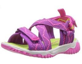 Carter's Splash3G Girls Sandals Pink+Purple Hook+Loop Summer Shoes Toddler - $12.95