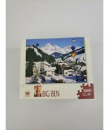 """MB Puzzle 2006 Big Ben 1000 Pcs Jigsaw """"Balloons in the Sky"""" Snow Comple... - $19.99"""