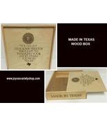 "Made in Texas Wood Pie Storage Box 11"" x 11"" x 3"" Slide Lid - $19.99"