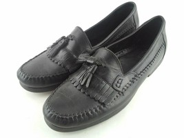 Bass Slip on Casual Dress Shoes Size 10 M Leather Black Weejuns Loafers - $46.07
