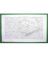 1859 ORIGINAL MAP - Germany Saxony & Francony - $14.85