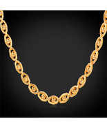 """Necklaces, 18K Gold Plated With 18K Stamp 5MM 55CM 22"""" Classic laces N849 - $23.99+"""