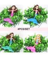 4PCS Original Swimming Mermaid Dolls Fashion Mermaid Doll Model Toys Pri... - $13.99
