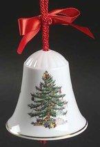 Spode Christmas Tree-Green Trim Bell Ornament, Fine China Dinnerware - $11.87