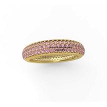 14k Gold  Pink Sapphire Gemstone attractive Stacking Ring Weddding Band ... - $1,145.41