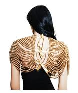 Necklace Gold Pearl Draped Shoulder Armor Body Chain Necklace - $129.99