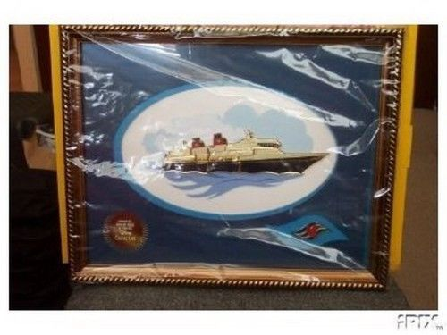 Disney Cruise Ship Framed Pin Set frame size 15 1/2 wide x 12 1/12 high Pin/Pins - $199.99