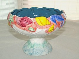 Enesco Multi Color Seashells Pedestal Bowl Compote Candy Dish Beach Deco... - $19.79