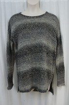 Sanctuary Sweater Sz XL Mineral Grey Multi Cable Knit Casual Slouchy Pul... - $48.35
