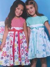 Mccalls Sewing Pattern 7343 Girls Dresses Size 6-8 New - $17.46