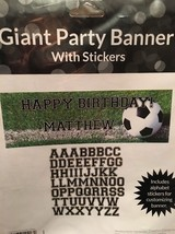 Creative Converting Sports Fanatic Soccer Giant Party Banner Stickers 20... - $15.94 CAD