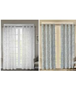 "Regency Heights Cosma Grommet Window Curtain Panel in Blue & White 50"" x... - $26.72+"