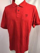 Izod Red Short Sleeve Polo Shirt Men's Large - $14.24