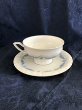 ROSENTHAL-Continental BLUE GARLAND Blue Swag Footed Cup & Saucer Germany - $5.94