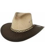 Bullhide Happy Valley California Straw Safari Two Toned Med Brim Natural... - £53.43 GBP