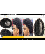 Afro Toupee Top Selling Black Hair Unprocessed Human  Afro Kinky Curl Skin - $189.99