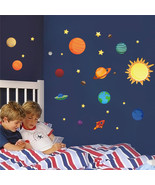 Solar System wall stickers for kids rooms Stars outer space  sky wall de... - $7.80