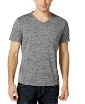 Alfani Mens Moisture Wicking V-Neck Performance T Shirt Small S Black Gr... - $9.99