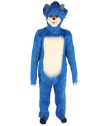 Furry Sonic The Hedgehog | Men's White and Blue Straight Long Furry Hedg... - $157.85