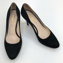 Women's Prada Black Suede Round Toe Heels / Pumps sz 7 - $124.70