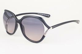 Tom Ford ANOUK Shiny Black / Gray Gradient Sunglasses TF578 01B 60mm - $195.02