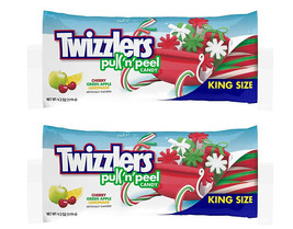 2 Twizzlers Pull'n'Peel Candy 4.2 oz King Size BB 09/2020