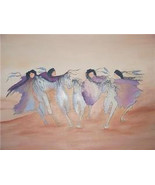 1992 Signed H. Towns Southwestern Native Indian Original Watercolor Pain... - $755.99