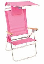RIO Gear Rio Brands Hi-Boy Beach Chair with Canopy Pillow Pink - $72.15