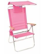 RIO Gear Rio Brands Hi-Boy Beach Chair with Canopy Pillow Pink - $72.15