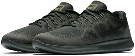 NIKE FREE 2017 RUNNING TRAINER SPORT SNEAKERS MEN SHOES BLACK/GREEN SIZE... - $98.99