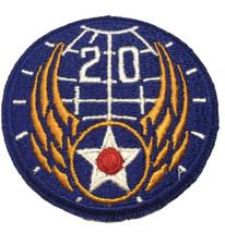 Post Wwii Usaaf U.S. Army 20th Air Force Cut Edge Patch Glue Back - $5.86