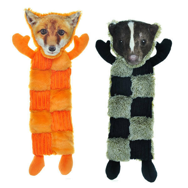 "Primary image for Large Dog Toy Squeaker Mats 11 Squeaks 18"" Long Less Mess Choose Fox or Skunk"