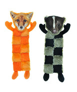 "Large Dog Toy Squeaker Mats 11 Squeaks 18"" Long Less Mess Choose Fox or ... - $16.72+"